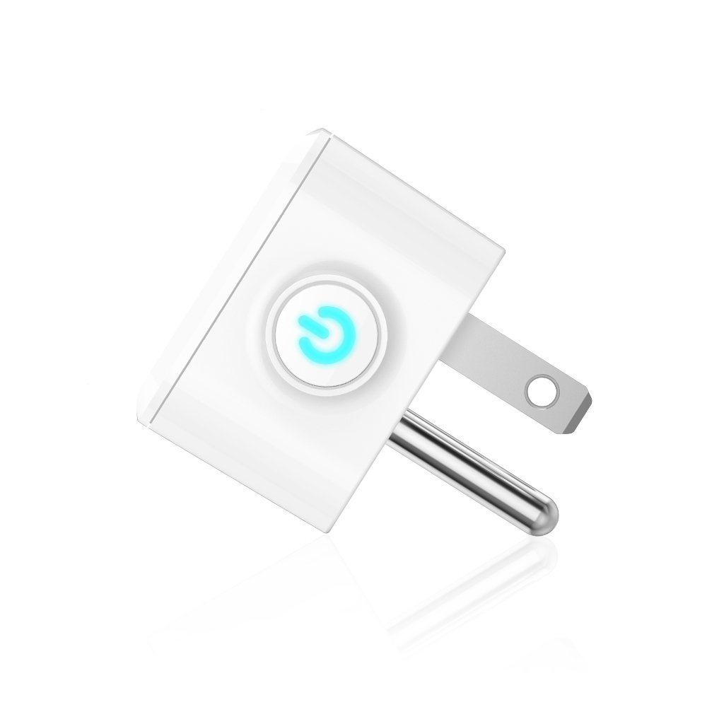 Lvgoo Rectangle WiFi Smart Plug,Works with Amazon Echo Alexa ,MINI Smart Power Socket Outlet,Turn ON/OFF Electronics from Anywhere,For iPhone IOS Android APP by Lvgoo (Image #2)