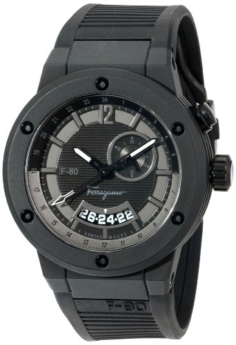 amazon com salvatore ferragamo men s f55lgq6877 s113 f 80 black amazon com salvatore ferragamo men s f55lgq6877 s113 f 80 black carbon fiber and black rubber watch watches