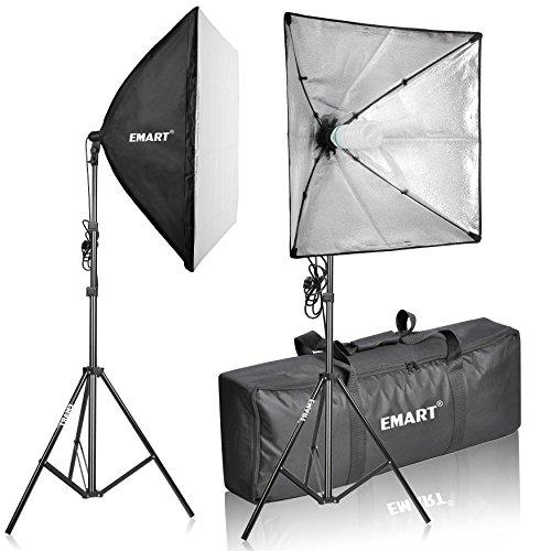Emart 105W Professional Photography 24x24 Inches Softbox Continuous Lighting Studio Portrait Kit (Foto Studio Lighting)