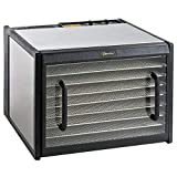 Excalibur D900CDSHD 9 Dehydrator with Trays and Clear Door, Stainless Steel, Silver