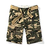 MUST WAY Men's Multi Pocket Slim Fit Cotton Twill Cargo Shorts 703# MC155 Camo 31