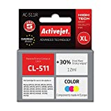 Ink ActiveJet AC-511 | Color | 9 ml | Refill | Canon CL-511