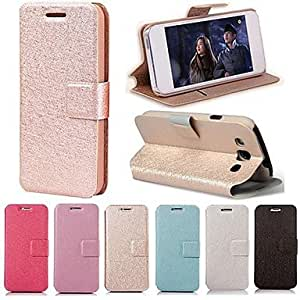MOM Smooth Silk Pattern with Card Bag PU Full Body Case for Samsung Galaxy S3 I9300(Assorted Color) , Rose