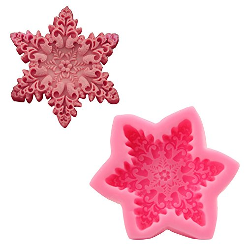Efivs Arts Snowflake Silicone Cake Mold Ice Candy Chocolate Soap Mold for Oven Microwave (Snowflake Chocolate Cakes)