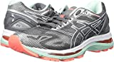 ASICS Women's Gel-Nimbus 19 Running Shoe, Carbon/White/Flash Coral, 8.5 M US