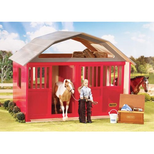 Breyer Traditional Two-Stall Horse Barn Toy Model (1: 9 Scale), Red (Breyer Barn And Horses)