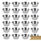 (Set of 24) TrueCraftware Stainless Steel Condiment Sauce Cups 1.5 oz