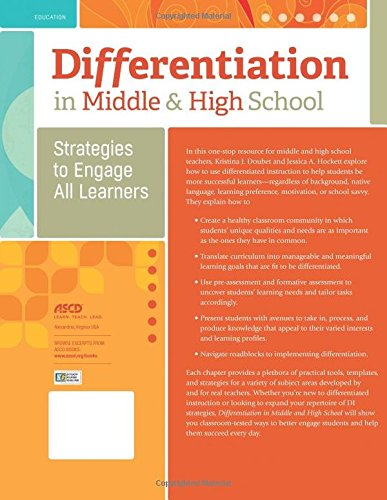 Differentiation In Middle And High School Strategies To Engage All