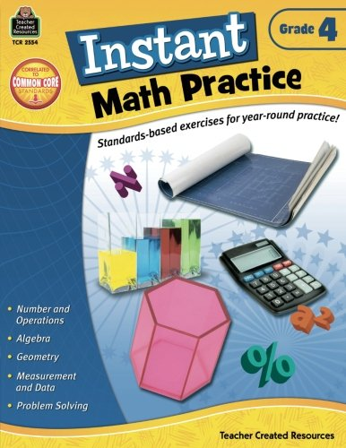 Instant Math Practice, Grade 4