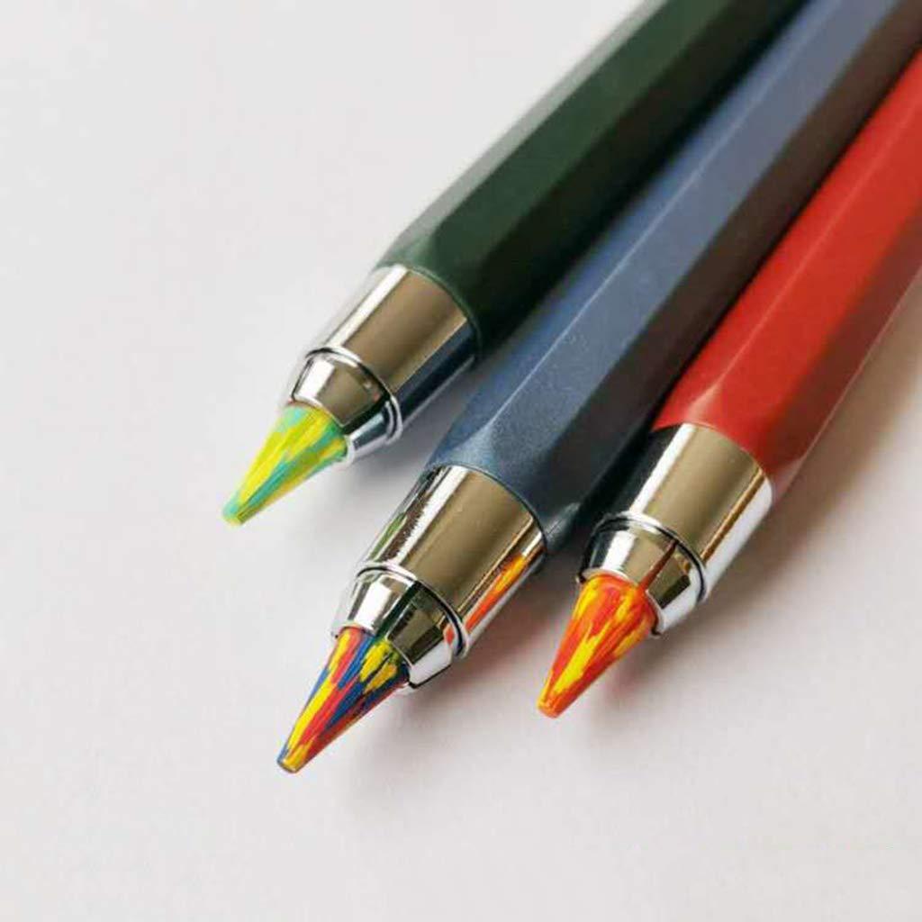 FURU 5.6mmX90mm Magique Arc-En-Crayon Mine De Plomb Art Croquis Dessin Couleur Plomb /École Fournitures De Bureau