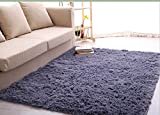 Ultra Soft 4.5 Cm Thick Indoor Morden Area Rugs Pads, New Arrival Fashion Color [Bedroom] [Livingroom] [Sitting-room] [Rugs] [Blanket] [Footcloth] for Home Decorate. Size: 4 Feet X 5 Feet (Gray)