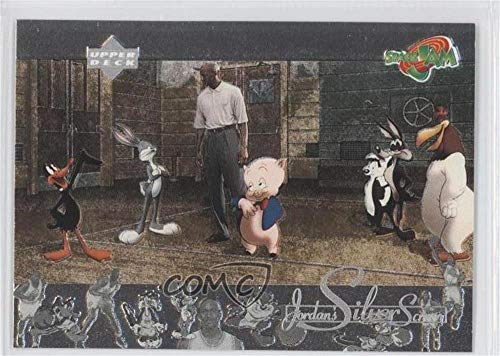 Michael Jordan; Daffy Duck; Bugs Bunny; Porky Pig (Basketball Card) 1996 Upper Deck Space Jam - Jordan's Silver Screen #JS7