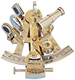 "Hampton Nautical  Titanic White Star Lines Sextant, 5"", Brass"