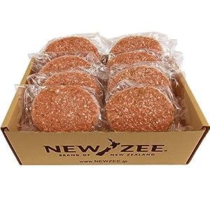 NEWZEE ハンバーグ パティ 【100%ニュージーランド産牛肉】 150g×8枚 (合計1.2kg) 【冷凍】