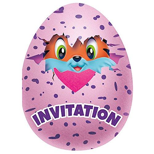 Hatchimals Invitations, 8ct