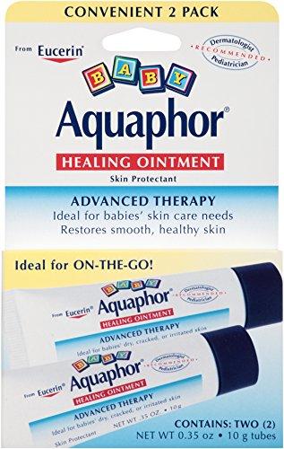 Aquaphor bébé pommade cicatrisante érythème fessier et protecteur de la peau sèche, 0,35 oz Dual Pack