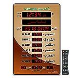 Al-Harameen,Azan Clock Led Prayer Clock,Wall Clock,Read Home/Office/Mosque Digital Azan Clock/LED Clock HA-5151