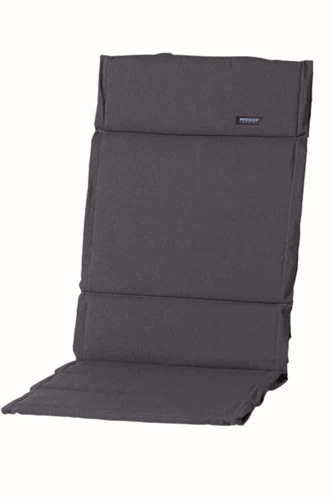 Madison 2 Stück Dessin Panama Sitz-Auflage für Klappsessel, 75% Baumwolle, 25% Polyester, 123 x 50 x 4 cm, in grau