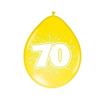 NET TOYS Globos cumpleaños Esfera con número Cumple 70 años ...