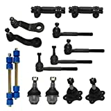 #9: New Complete 14-Piece Front Suspension Kit FOR STAMPED STEEL LOWER CONTROL ARMS 4x4 10-Year Warranty- All (4) Front Ball Joints [45.79mm], 4 Tie Rods
