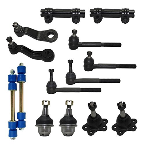 - New Complete 14-Piece Front Suspension Kit FOR STAMPED STEEL LOWER CONTROL ARMS 4x4 10-Year Warranty- All (4) Front Ball Joints [45.79mm], 4 Tie Rods