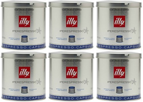 Illy iperEspresso Lungo 21 Count Coffee Capsules (Pack of 6)