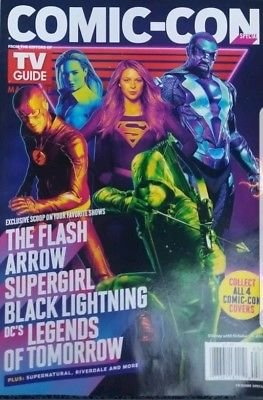 TV Guide Magazine SPECIAL Comic-Con 2018 (Group of Heros) flash, supergirl, black lighting, -