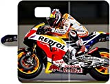 New Style Samsung Galaxy S7 Edge Leather Case Cover Skin : Premium High Quality Dani Pedrosa 2015 Motogp Repsol Honda Team Leather Case