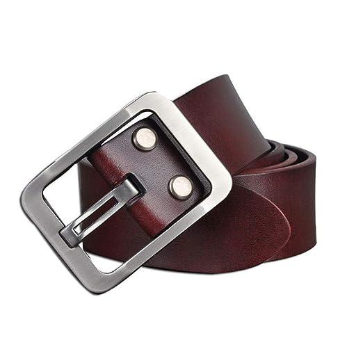 Cinturón de hombre Cinturón de hombre Vestido de cuero Botón de ...