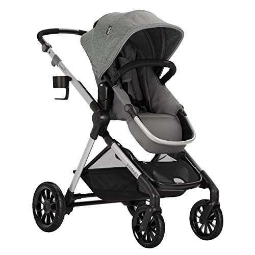 (Evenflo Pivot Xpand Modular Stroller, Baby Stroller, Converts to Double Stroller, 4 Modes, Durable Construction, Extra-Large Storage Basket, Compact Folding Design, 55-lb Capacity, Percheron Gray)