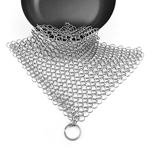 Powstro Stainless Chainmail Scrubber Skillets product image