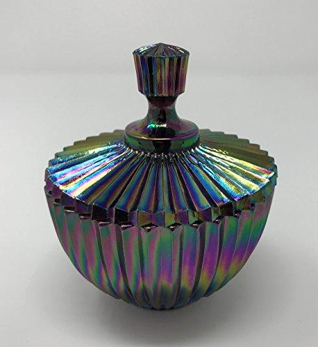 Fenton Art Glass, Trinket Box, Plum Carnival