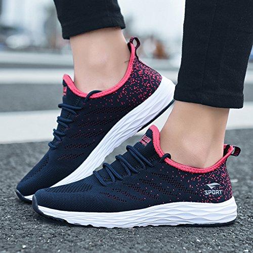 Laufschuhe Neuen Freizeitschuhe Sportschuhe Sommer Frauen blue Schuhe Dark Hasag Atmungsaktive wxYaTIqgBW