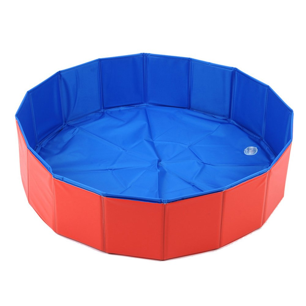 Bonaweite Foldable Pet Bath Pool,Collapsible Dog Pool Bathing Tub for Dogs or Cats, Diameter-31.5'' after setting up,Height-7.9''