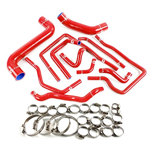 Silicone Radiator Coolant Hose Kit For SUBARU Impreza GDB NEW AGE 02-07 Red
