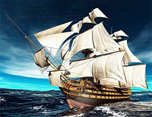 DIY 5D Diamond Painting Full Drilling Embroidery Rhinestone Paste Giant ship5 DIY Painting Cross Stitch Household A…