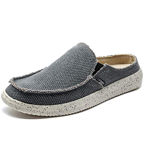 CASMAG Men's Slipper Casual Clog Shoes Canvas Slip-on Loafers Outdoor Leisure Walking Blue US 9.5