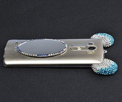 Funda Doble para LG G4, Vandot Bling Brillo Carcasa Protectora 360 Grados Full Body | TPU en Transparente Ultra Slim Case Cover | Protección Completa Delantera y Trasera Cocha Smartphone Móvil Accesor MQJZ 02