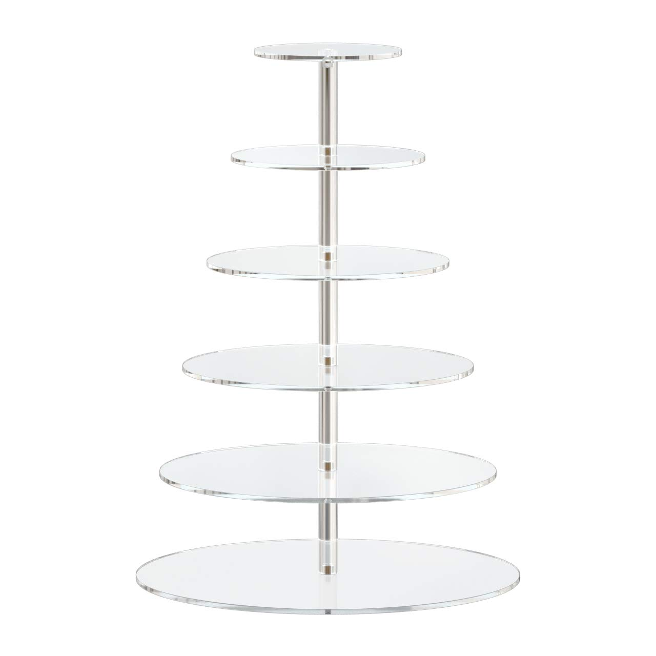 6 Tiered Acrylic Round Cupcake Stand Cupcake Towers and Tier Stand Clear Cake Holder Pastry Serving Platter for Wedding Holidays Buffets Birthday Party by HIIMIEI