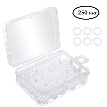 Dreamtop - Juego de 250 separadores de teclado de goma transparente con almacenamiento de plástico para teclado mecánico Cherry MX: Amazon.es: Electrónica