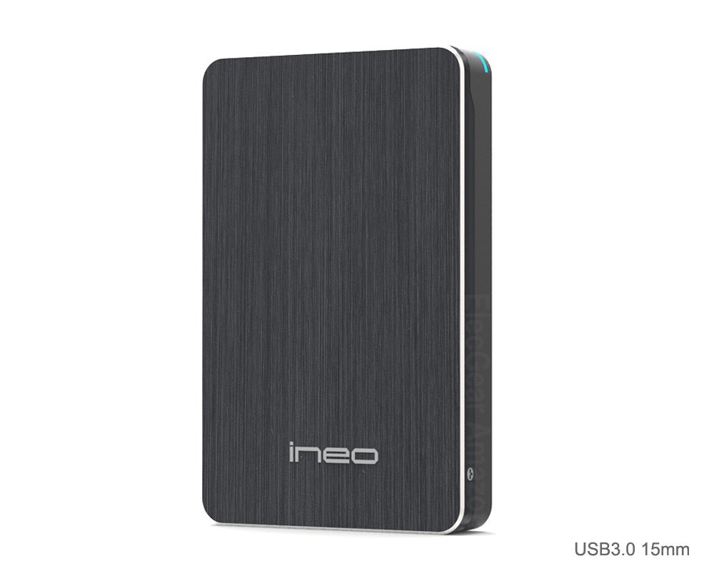 Caja con USB 3.0 para Disco Duro Externo de 2.5 de 7 a 15 mm - ElecGear SuperSpeed Carcasa para SATA HDD y SSD, Hard Drive Enclosure adaptador, ...