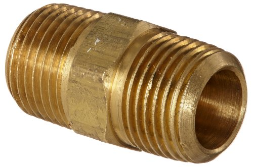 - Anderson Metals 56122 Brass Pipe Fitting, Hex Nipple, 3/8