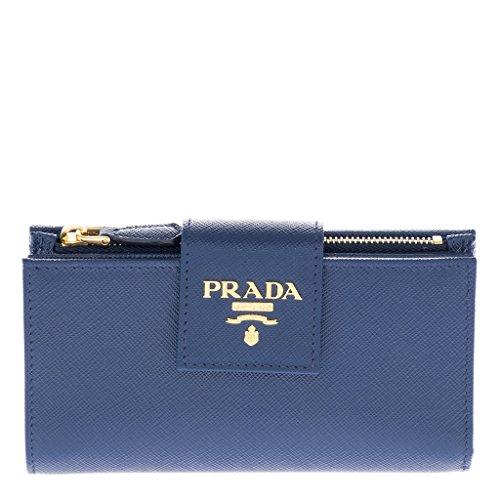 Prada Women's Women's Saffiano wallet Blue Blue