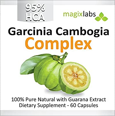 95% HCA Garcinia Cambogia Complex - Highest HCA Potency ANYWHERE. Certified. Pure. Natural. Fast Action Diet Pills: Fat Burner, Carb Blocker and Appetite Suppressant for Weight Loss by MagixLabs