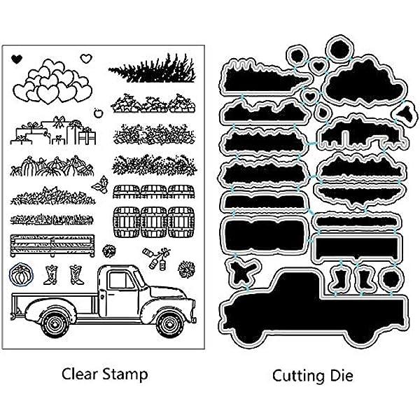 Truck Metal DIY Cutting Dies Stencil Scrapbooking Album Paper Card Craft Decor