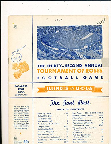 - 1947 Rose Bowl Football Program Illinois vs UCLA