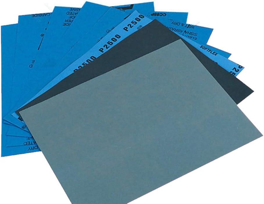 ZHENWOFC 3 feuilles Grit 3000 5000 7000 papier abrasif sec et humide polissant le silicium imperm/éable pour papier abrasif Pi/èces de mat/ériel