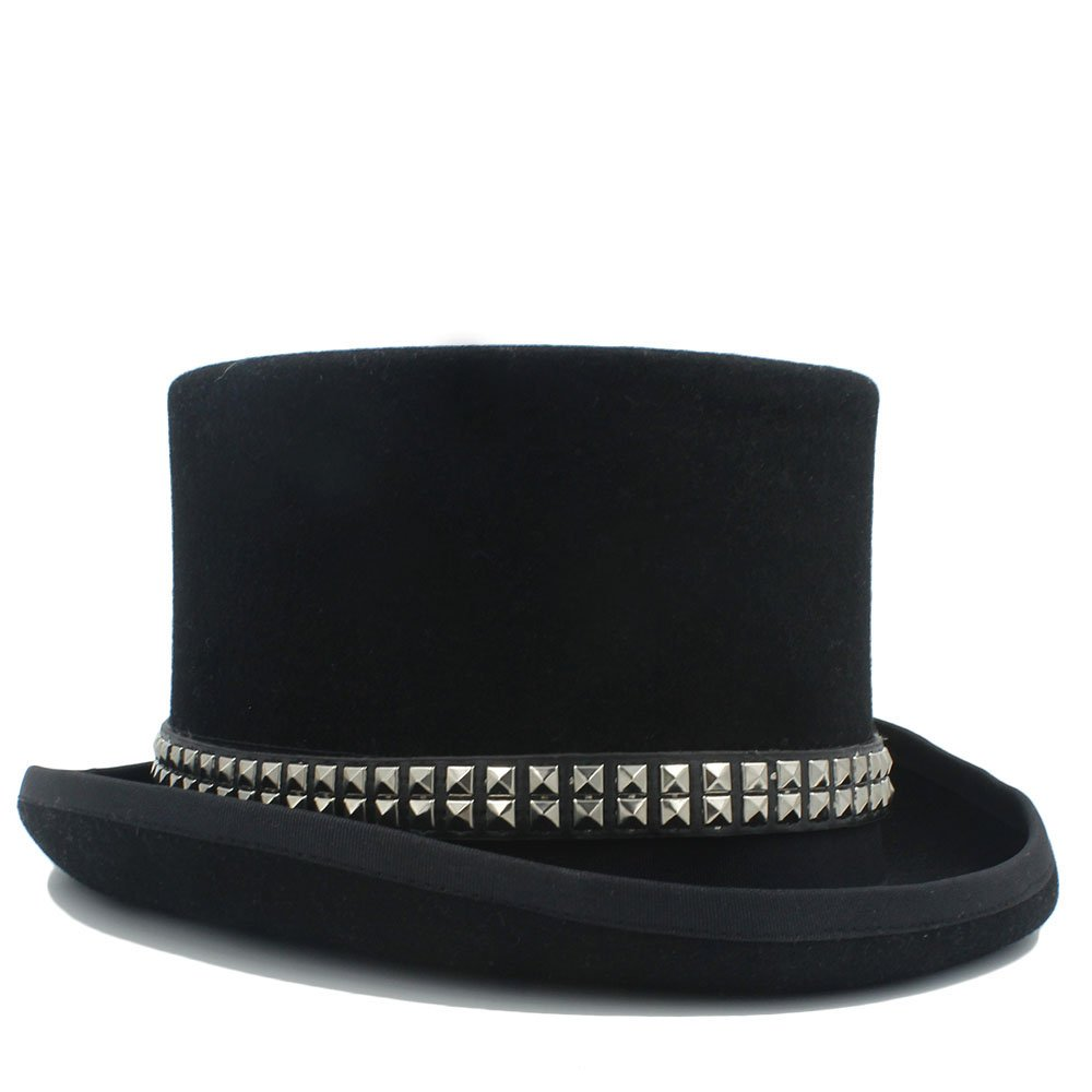 LL Women's Steampunk Top Hat Steam Punk Fedoras Top Hat Topper (Color : Black, Size : 59CM) by LL (Image #6)