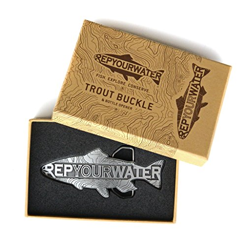 Rep Your Water Trout Belt Buckle by Rep Your Water