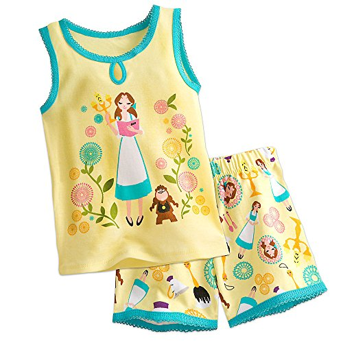 Disney Belle PJ Pals Pajamas Short Set For Girls Size 8 -